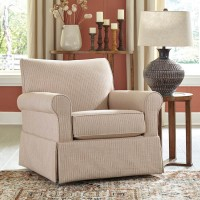 Almanza Wheat Swivel Glider Accent Chair