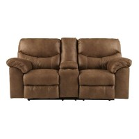 Boxberg Bark Double Recliner Loveseat with Console