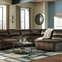 Clonmel Chocolate Sectional Living Room Group