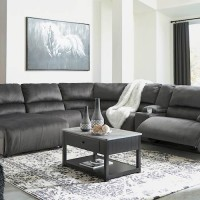 Clonmel Charcoal Sectional Living Room Group