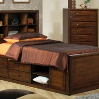 Hillary Warm Brown Twin Bed