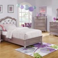Caroline Metallic Twin Bed