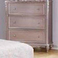 Caroline Metallic Lilac Chest