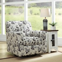 Abney Driftwood Swivel Accent Chair