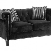 Abildgaard Black Loveseat