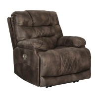 Welsford Walnut Power Recliner/Adjustable Headrest