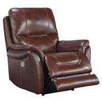 Stolpen Walnut Power Recliner/Adjustable Headrest