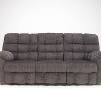 Acieona Slate Recliner Sofa with Drop Down Table