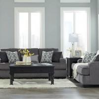 Gilmer Gunmetal Living Room Group