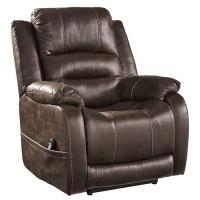 Barling Walnut Power Recliner/Adjustable Headrest