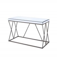 Black Nickel Sofa Table