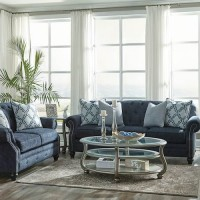LaVernia Navy Living Room Group