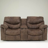 Alzena Gunsmoke Double Recliner Loveseat with Console