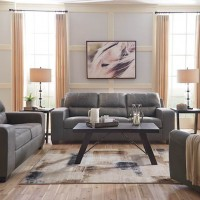 Narzole Dark Gray Living Room Group