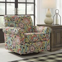 Harrietson Shell Swivel Glider Accent Chair