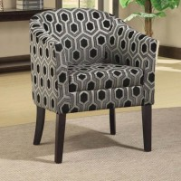 Grey White Accent Chair