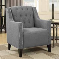 Smoke Gray Accent Chair