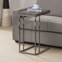 Black Nickel Accent Table