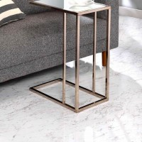 Chocolate Chrome Accent Table