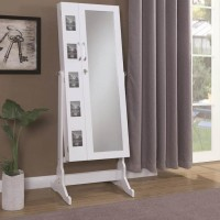 Silver Jewelry Armoire