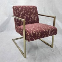 Wine Red Accent Chair