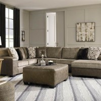 Abalone Chocolate Sectional Living Room Group