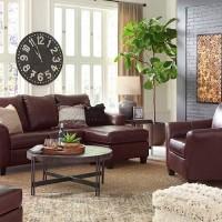 Fortney Mahogany Living Room Group