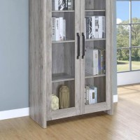Grey Driftwood Curio Cabinet