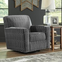 Zarina Jute Swivel Accent Chair