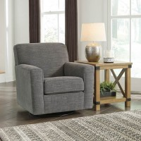 Alcona Linen Swivel Glider Accent Chair