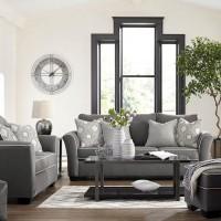 Domani Charcoal Living Room Group