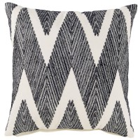 Carlina Black Pillow (Includes 4)