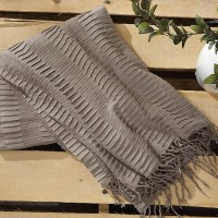 Mendez Taupe Throw (Includes 3)