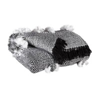 Jarmaine Black/White Throw (Includes 3)