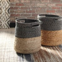 Parrish Natural/Black Basket Set (Includes 2)