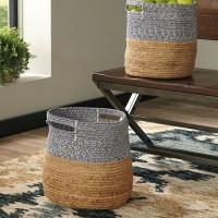 Parrish Natural/Blue Basket Set (Includes 2)