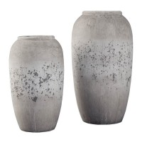 Dimitra Brown/Cream Vase Set (Includes 2)