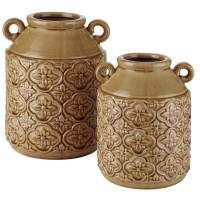 Edaline Ochre Vase Set (Includes 2)