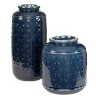 Marenda Navy Blue Vase Set (Includes 2)