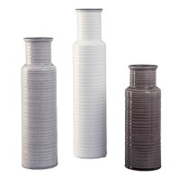 Deus Gray/White/Brown Vase Set (Includes 3)