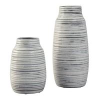 Donaver Gray/White Vase Set (Includes 2)
