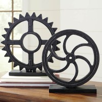 Dermot Antique Black Sculpture Set (Includes 2)
