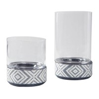 Dornitilla Black/White Candle Holder Set (Includes 2)