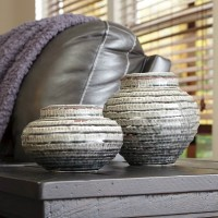 Devonee Antique Gray Jar Set (Includes 2)