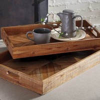 Dewitt Brown Tray Set (Includes 2)