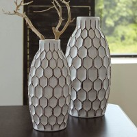 Dionna White Vase Set (Includes 2)