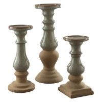 Emele Taupe Candle Holder Set (Includes 3)