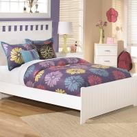 Lulu White Full Panel Bed