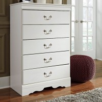Anarasia White Five Drawer Chest