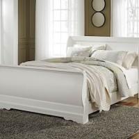 Anarasia White Queen Sleigh Bed